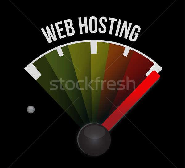 веб хостинг знак иллюстрация графического дизайна компьютер Сток-фото © alexmillos