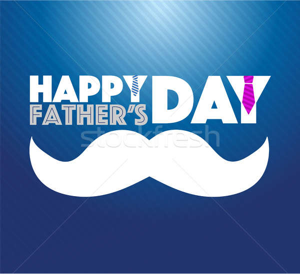 happy fathers day mustache sign Stock photo © alexmillos