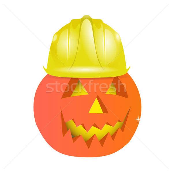 halloween character using helmet Stock photo © alexmillos