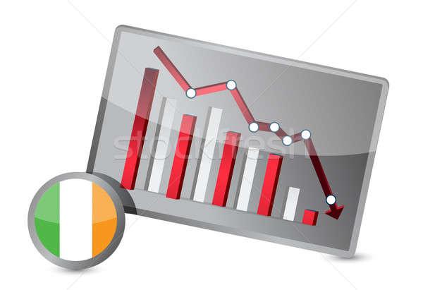 ireland suffering crisis graph design Stock photo © alexmillos