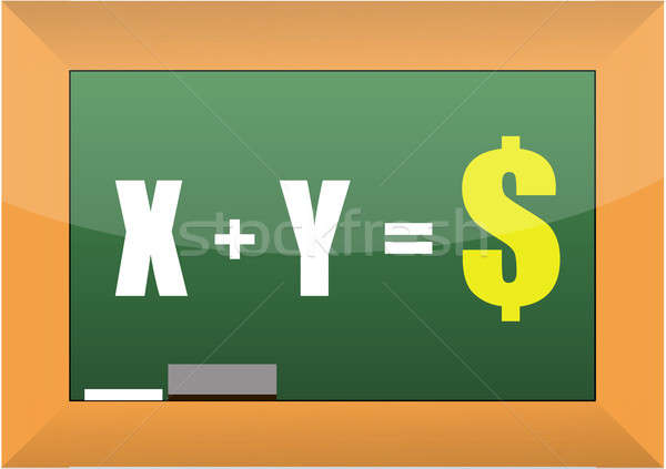 x and y equation to success illustration design Stock photo © alexmillos