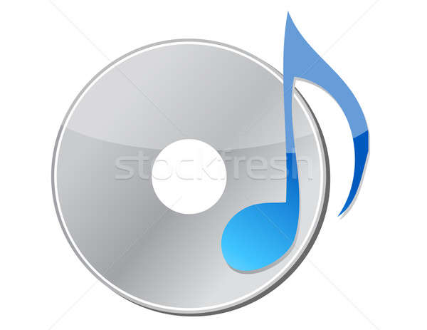 CD with musical note Stock photo © alexmillos