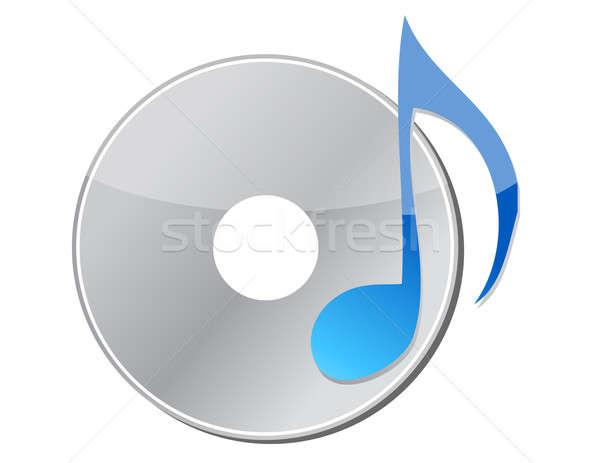 Cd zenei hang zene internet digitális fehér Stock fotó © alexmillos