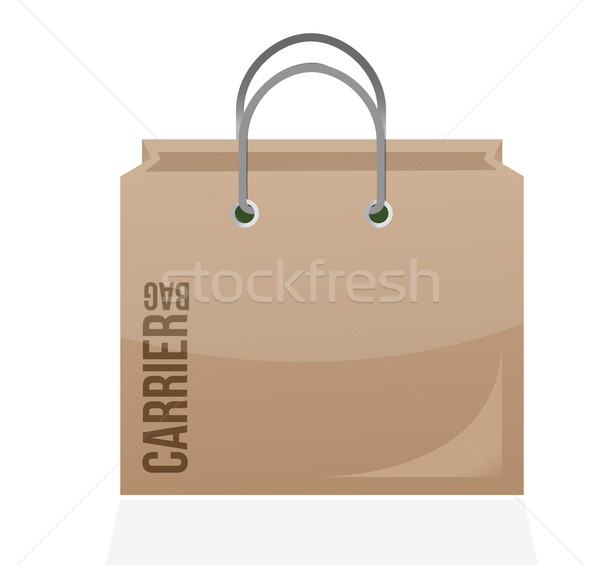 carrier shopping bag illustration design over a white background Stock photo © alexmillos