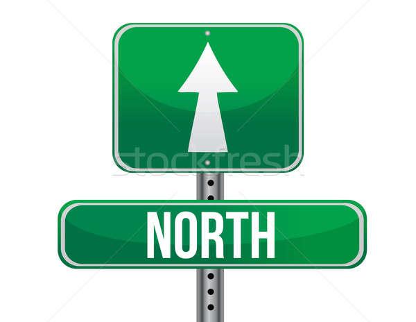 Cartello stradale settentrionale geografico direzione illustrazione design Foto d'archivio © alexmillos