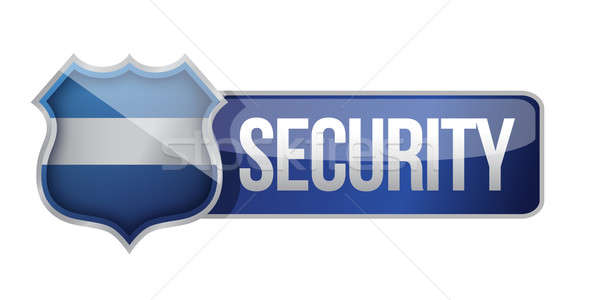 SECURE icon for web illustration design over white Stock photo © alexmillos