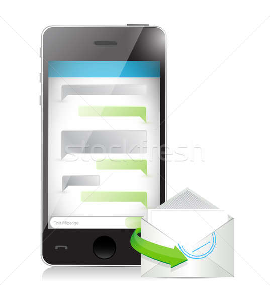 mail communication concept illustration design over a white back Stock photo © alexmillos
