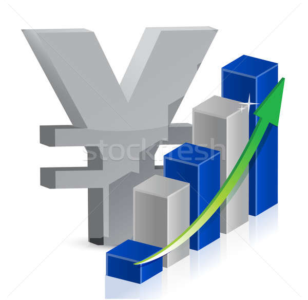 Stock fotó: Yen · valuta · ikon · stílus · illusztráció · hirdetés