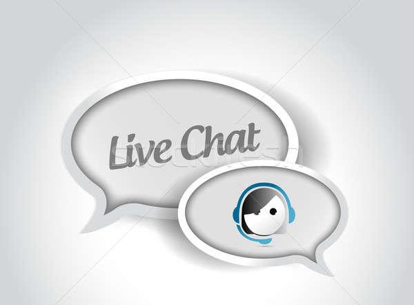 Yaşamak sohbet mesaj iletişim örnek dizayn Stok fotoğraf © alexmillos