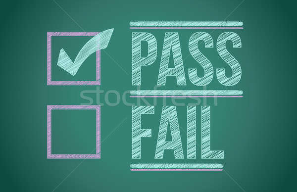 check mark for pass selection illustration design Stock photo © alexmillos