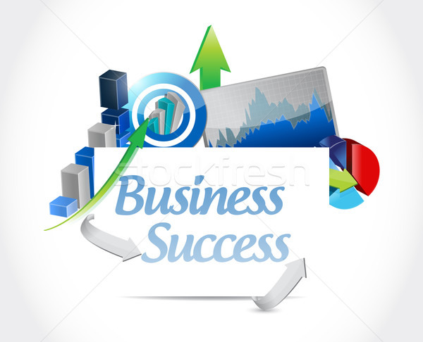 Business success concept sign illustration Stock photo © alexmillos