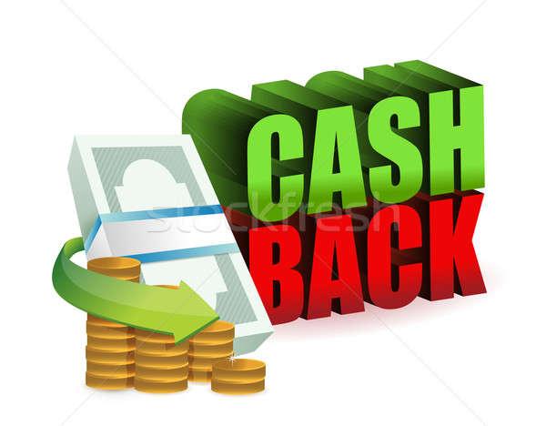 Cash back money sign illustration design Stock photo © alexmillos