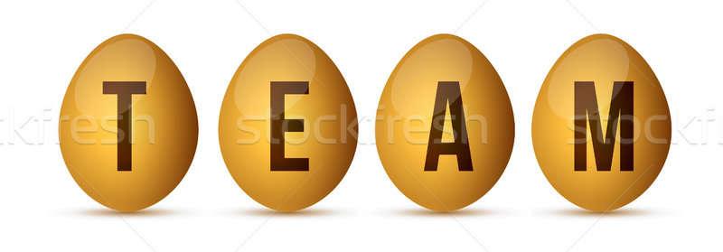 Egg team concept  Stock photo © alexmillos