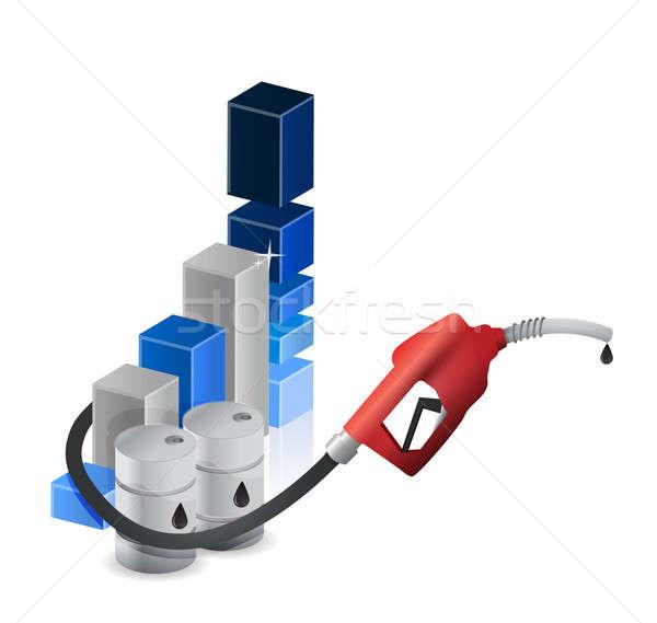 Foto stock: Gráfico · de · negócio · bocal · azul · cabo · financiar