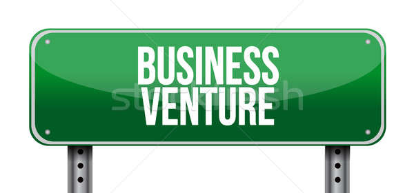 business venture street sign concept Stock photo © alexmillos
