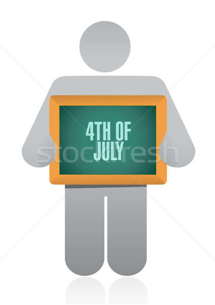 4th of July avatar sign concept illustration Stock photo © alexmillos