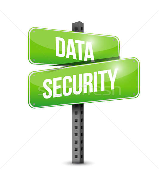 data security road sign illustration design Stock photo © alexmillos