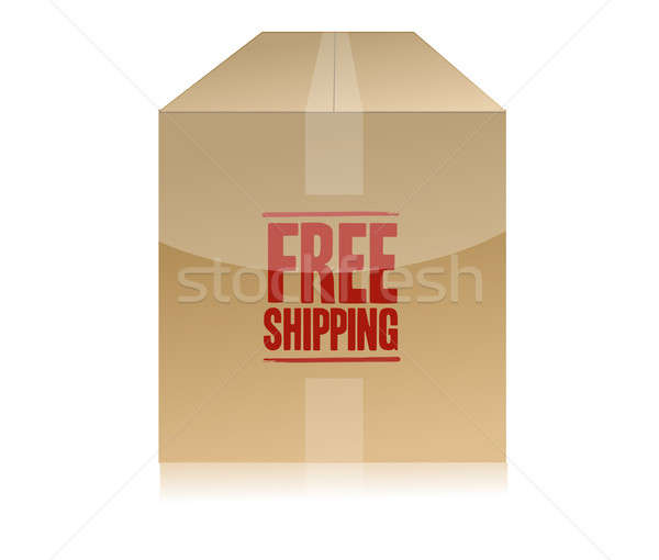 free shipping box illustration design isolated over a white back Stock photo © alexmillos