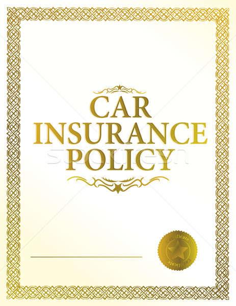 automobile insurance policy Stock photo © alexmillos