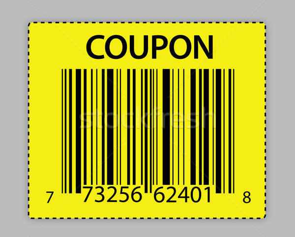 Uniek barcode bon illustratie ontwerp store Stockfoto © alexmillos