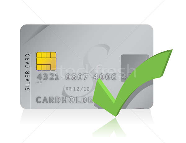 approve Credit Card illustration design Stock photo © alexmillos