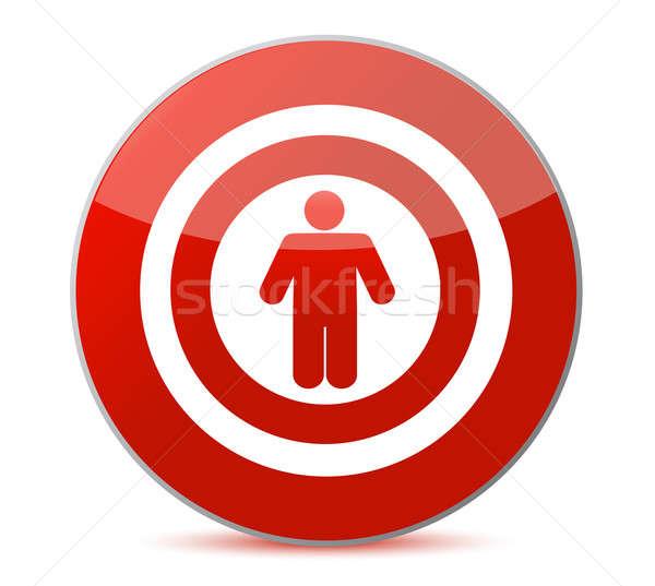 Szimbólum megcélzott személy szem piros fehér Stock fotó © alexmillos