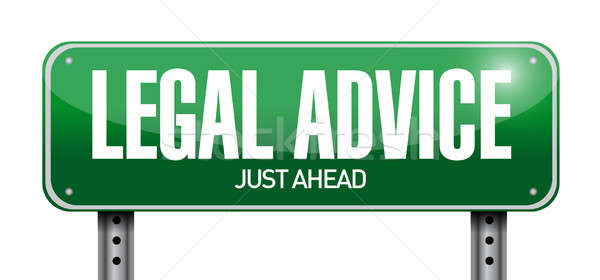 legal advice road sign illustration design over a white backgrou Stock photo © alexmillos