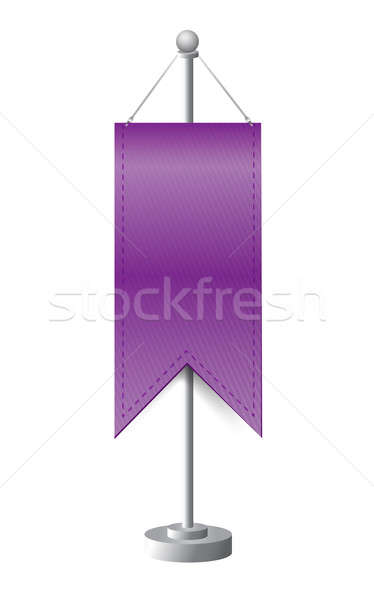 purple stand banner template illustration design over white Stock photo © alexmillos