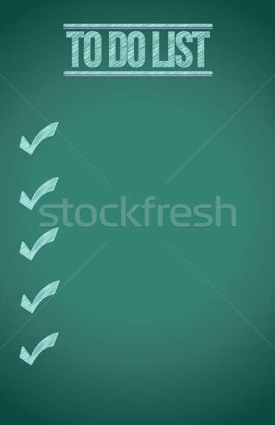 To do list Blackboard illustratie ontwerp grafische business Stockfoto © alexmillos