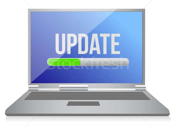 illustration of modern computer update illustration design Stock photo © alexmillos