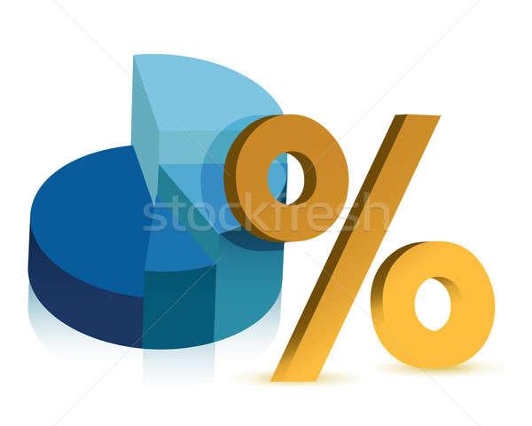 pie chart and percentage symbol illustration design Stock photo © alexmillos