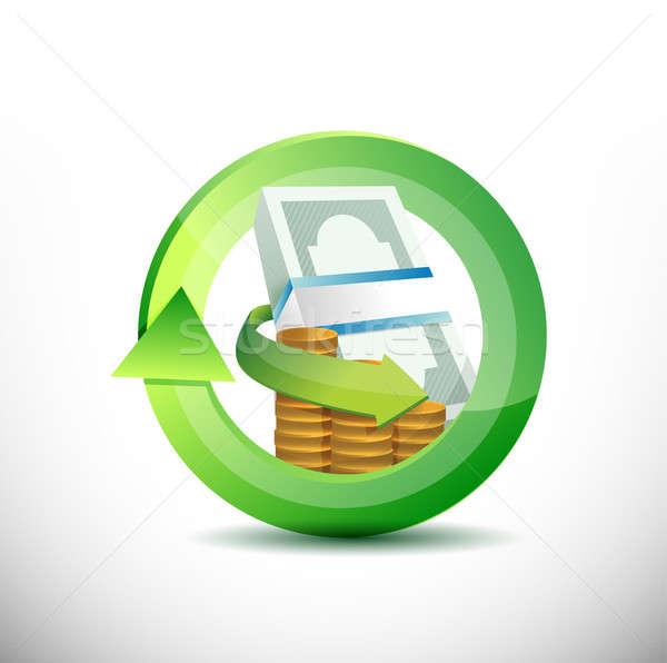 Monedas diseno ilustración blanco fondo Foto stock © alexmillos