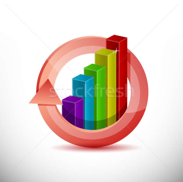 Gráfico de negócio projeto ilustração assinar financiar marketing Foto stock © alexmillos