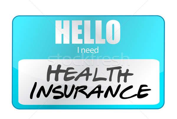 Assicurazione sanitaria targhetta grafica assicurazione concetto ciao Foto d'archivio © alexmillos