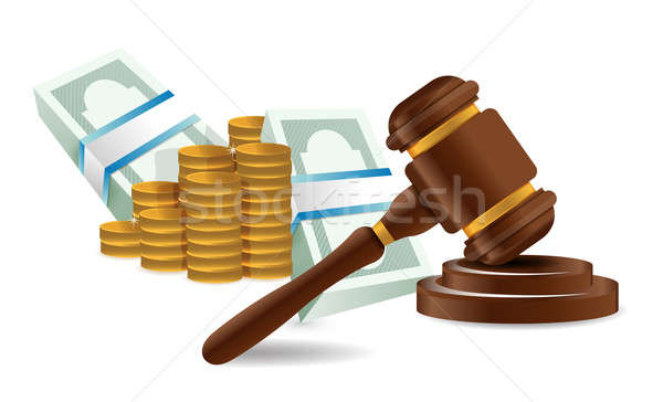 Law representation costs concept  Stock photo © alexmillos