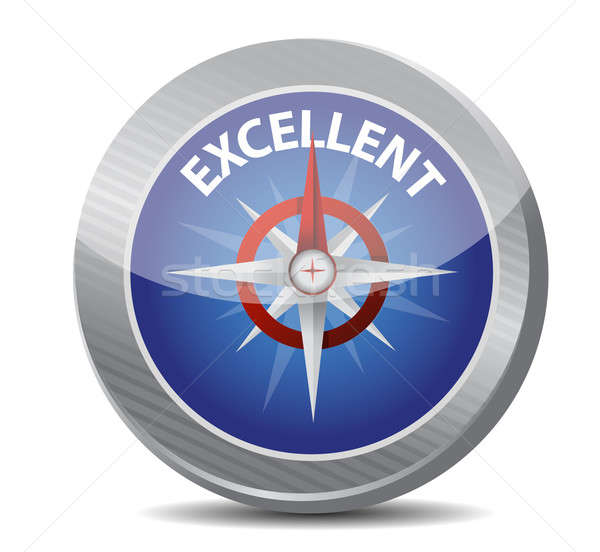 Guide to excellence compass illustration Stock photo © alexmillos
