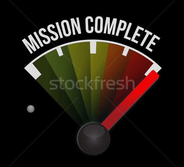 Küldetés teljes sebességmérő felirat illusztráció terv Stock fotó © alexmillos