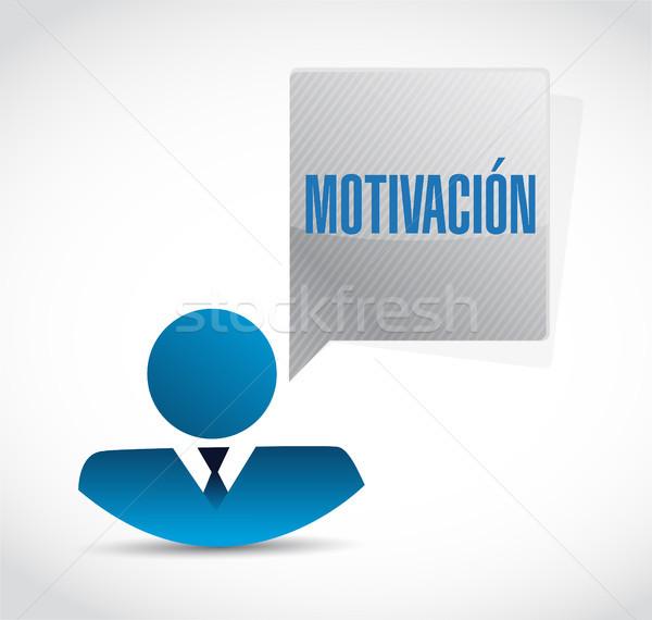 Motivazione business avatar segno spagnolo illustrazione Foto d'archivio © alexmillos