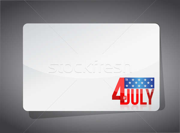 Fourth of july template illustration design Stock photo © alexmillos