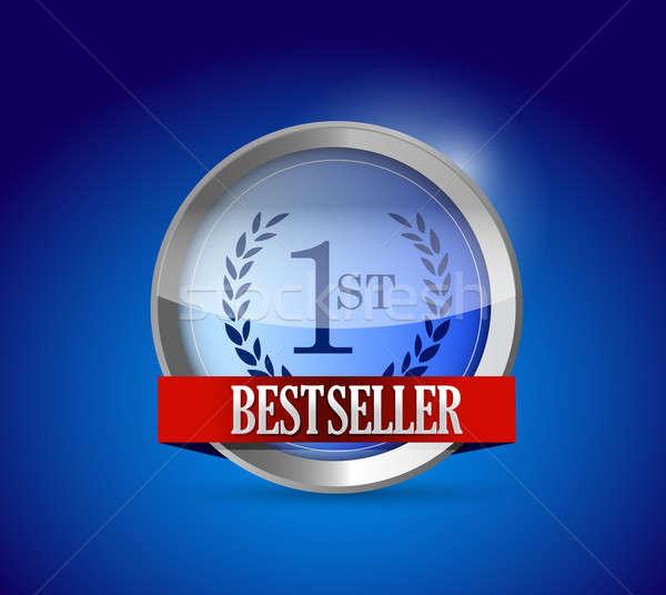 Bestseller knop schild illustratie ontwerp grafische Stockfoto © alexmillos