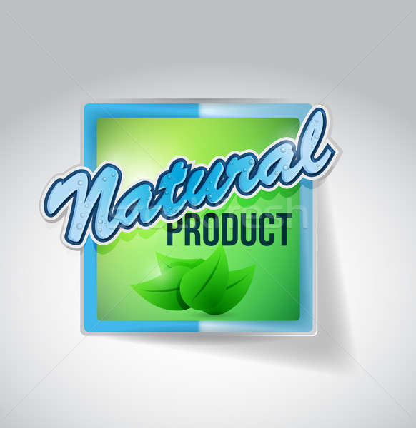 natural green seal mark illustration Stock photo © alexmillos