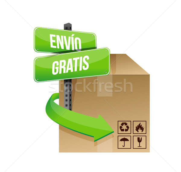 free shipping in spanish concept sign Stock photo © alexmillos