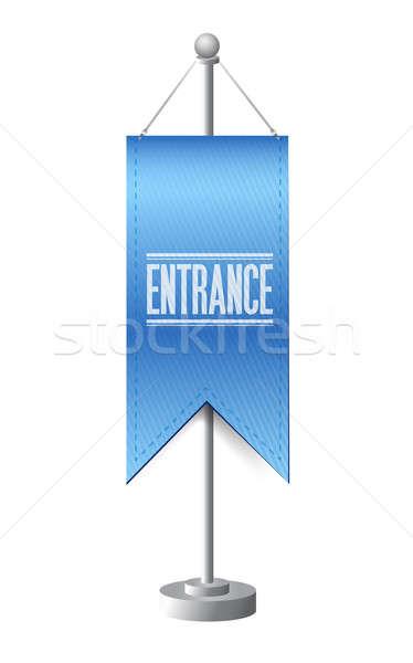 Entree permanente banner teken illustratie ontwerp Stockfoto © alexmillos