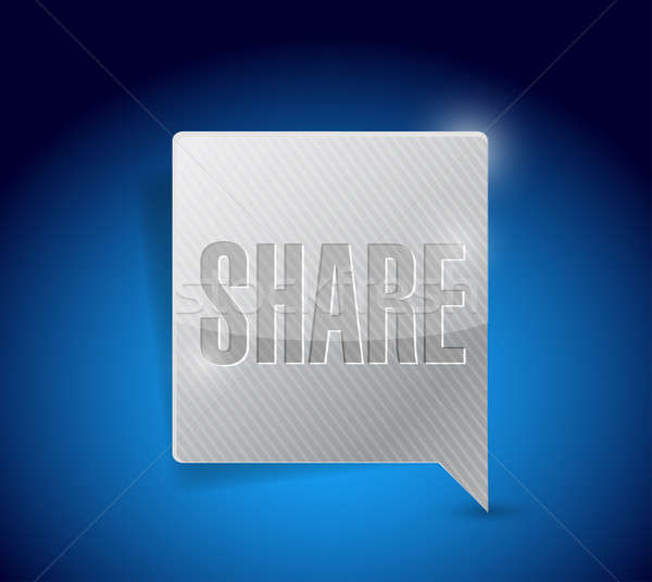 share social media button pointer Stock photo © alexmillos