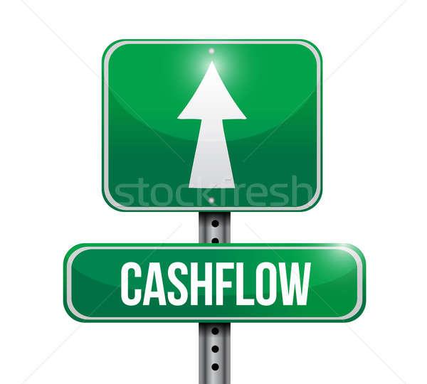 cashflow road sign illustration design Stock photo © alexmillos
