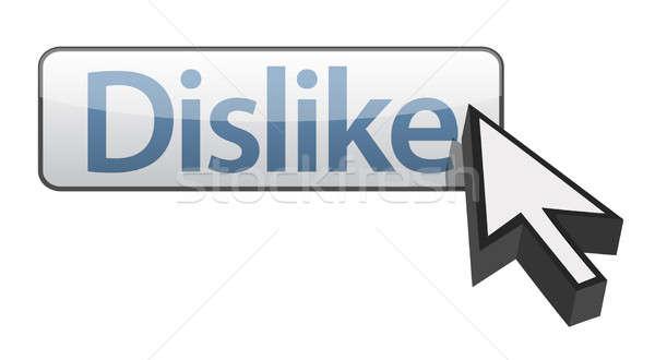 Aversión aislado blanco Internet flecha Foto stock © alexmillos