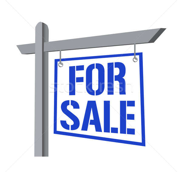 For sale street sign in blue. Stock photo © alexmillos
