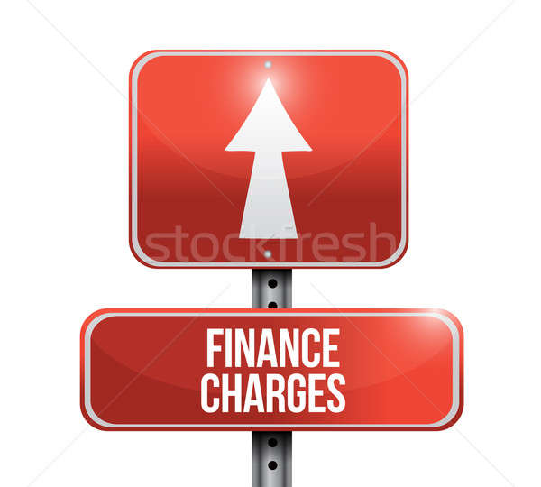 finance charges road sign illustration design over a white backg Stock photo © alexmillos