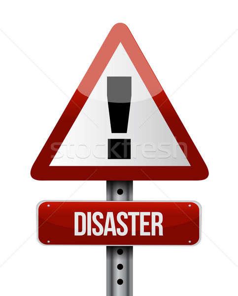 катастрофа дорожный знак иллюстрация дизайна белый бизнеса Сток-фото © alexmillos