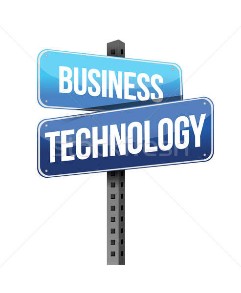 business technology sign illustration design over a white backgr Stock photo © alexmillos